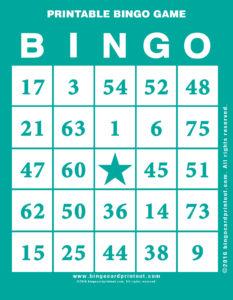 Printable Bingo Game 5