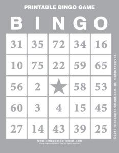 Printable Bingo Game 9