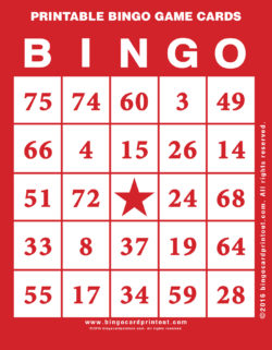 Printable Bingo Game Cards