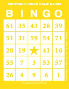 Printable Bingo Game Cards 3