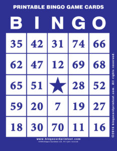 Printable Bingo Game Cards 6