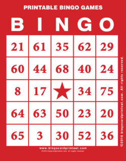 Printable Bingo Games