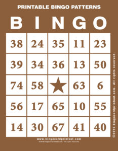 Printable Bingo Patterns 10