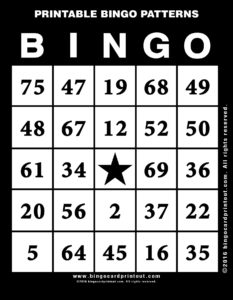 Printable Bingo Patterns 11