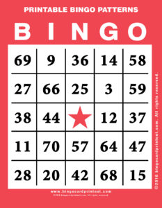 Printable Bingo Patterns 12