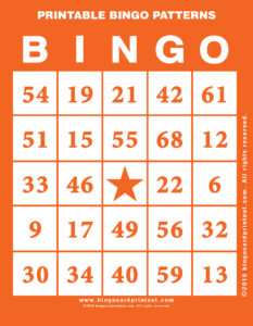 Printable Bingo Patterns 2