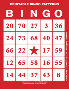 Printable Bingo Patterns