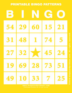 Printable Bingo Patterns 3