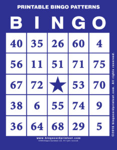 Printable Bingo Patterns 6