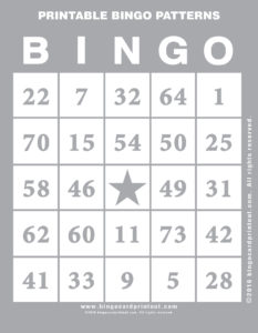 Printable Bingo Patterns 9