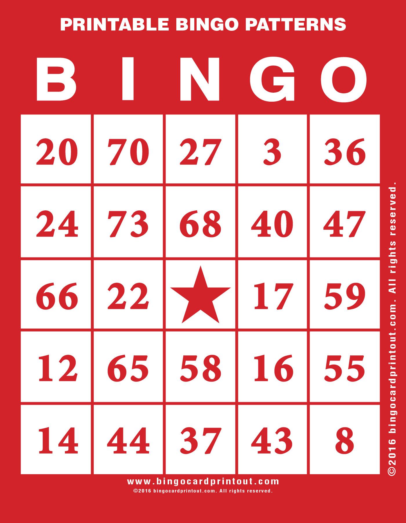 photograph about Bingo Patterns Printable known as Printable Bingo Designs -