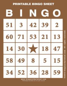 Printable Bingo Sheet 10