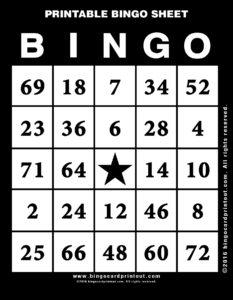 Printable Bingo Sheet 11