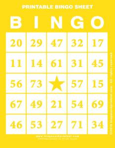 Printable Bingo Sheet 3