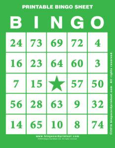 Printable Bingo Sheet 4