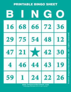 Printable Bingo Sheet 5