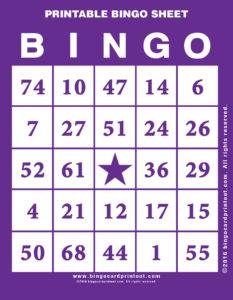 Printable Bingo Sheet 7