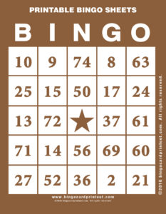 Printable Bingo Sheets 10