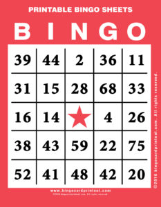 Printable Bingo Sheets 12