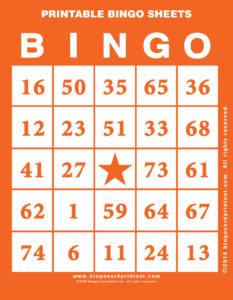 Printable Bingo Sheets 2