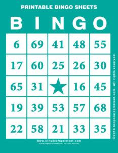 Printable Bingo Sheets 5