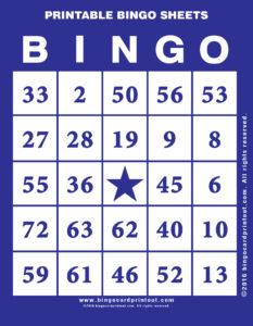 Printable Bingo Sheets 6