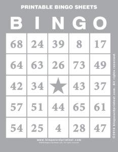 Printable Bingo Sheets 9