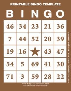 Printable Bingo Template 10