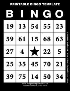 Printable Bingo Template 11