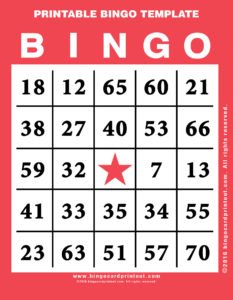 Printable Bingo Template 12