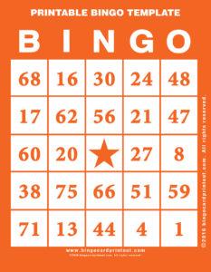 Printable Bingo Template 2