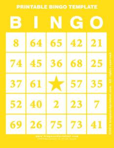 Printable Bingo Template 3