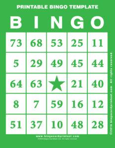 Printable Bingo Template 4
