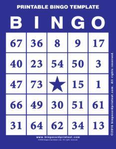 Printable Bingo Template 6