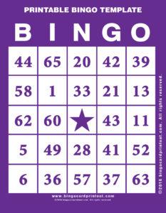 Printable Bingo Template 7